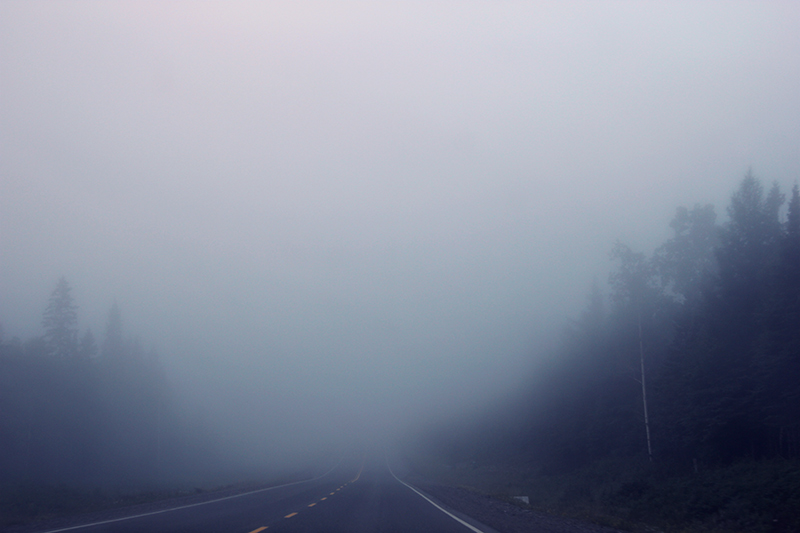 Image result for foggy road